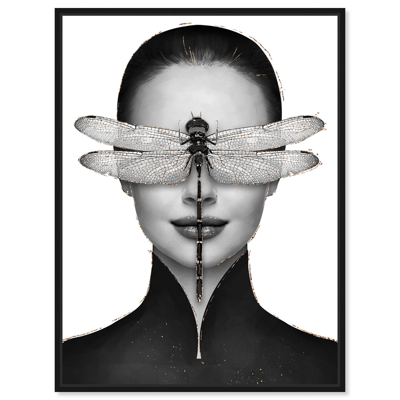 Front view of Dragonfly Duchess featuring fashion and glam and portraits art.