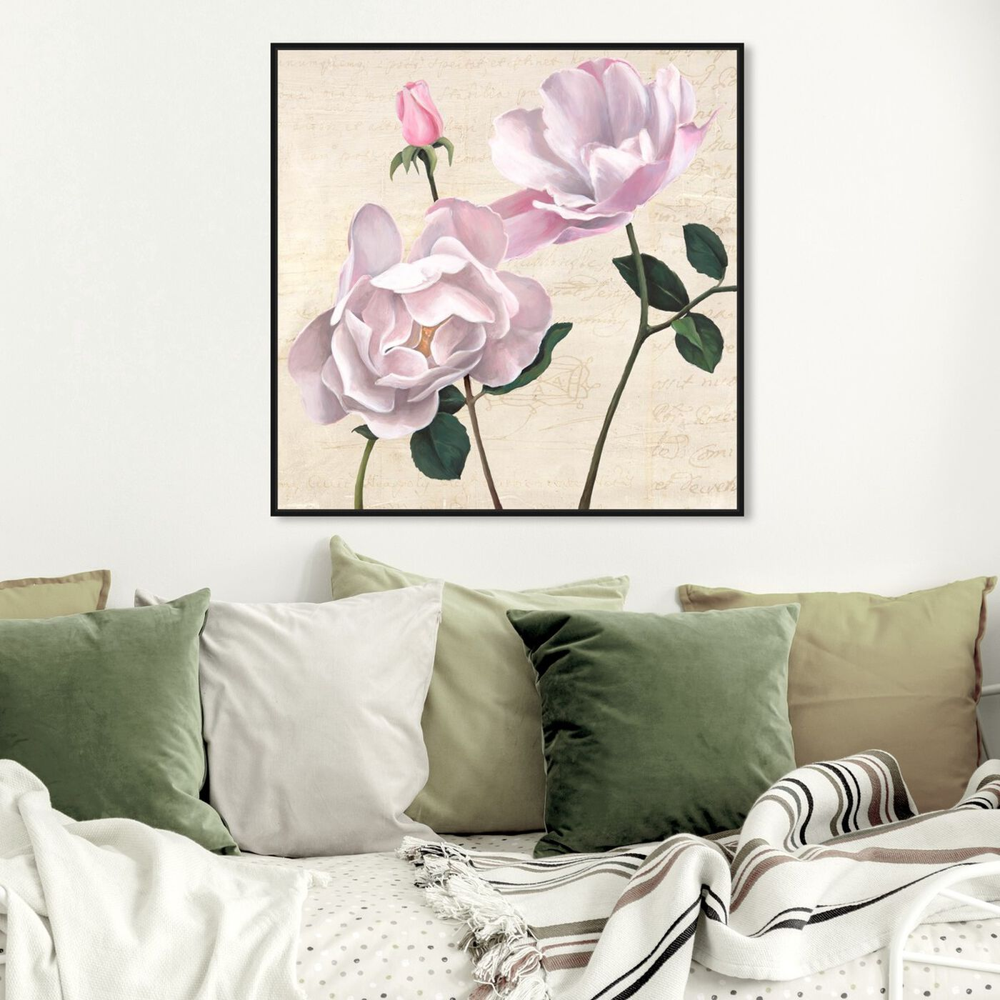 Hanging view of SAI - Flos Germen II featuring floral and botanical and florals art.