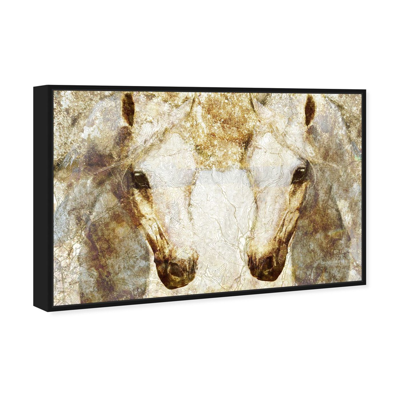 Angled view of Gold Stallions featuring animals and farm animals art.
