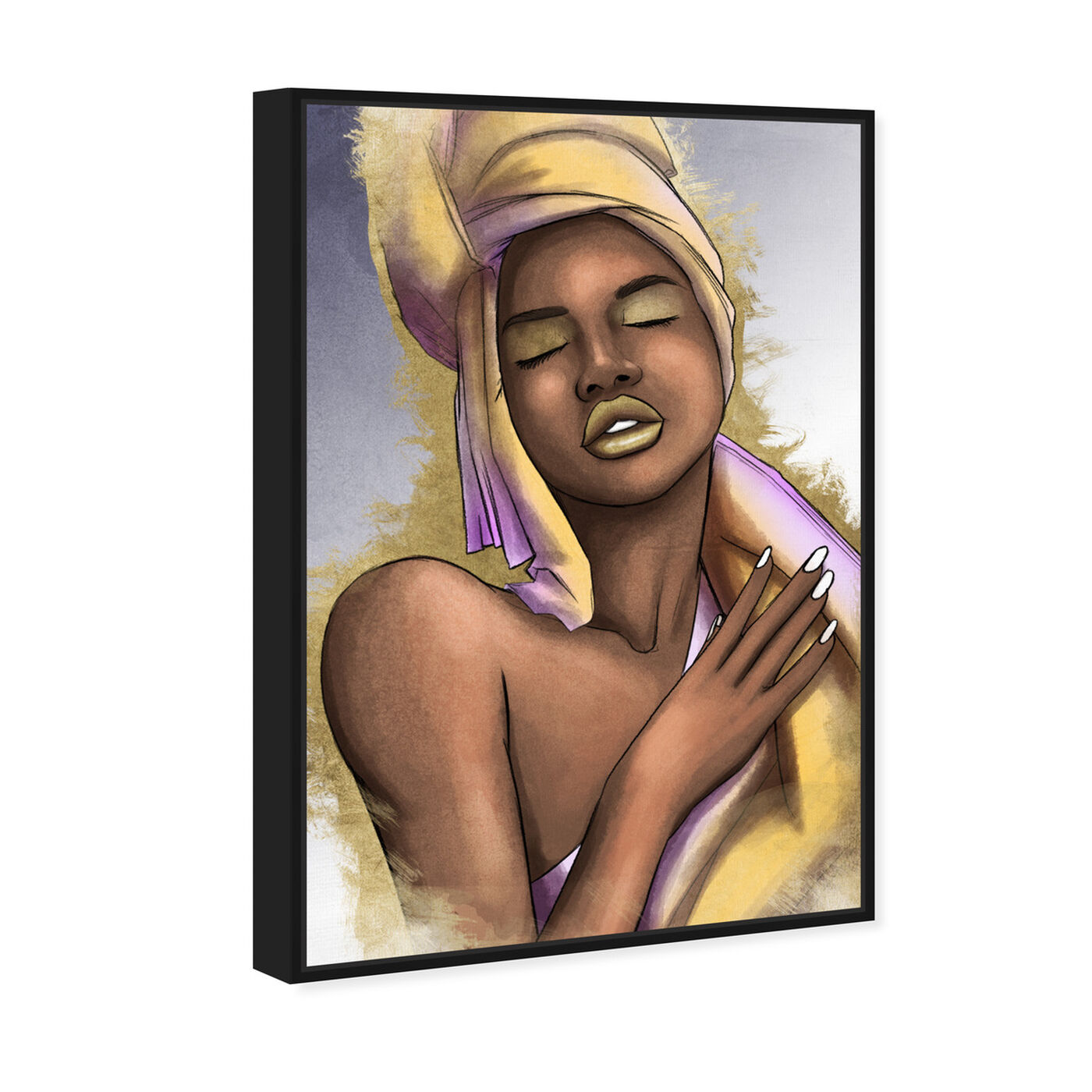 Angled view of Golden Shades featuring fashion and glam and portraits art.