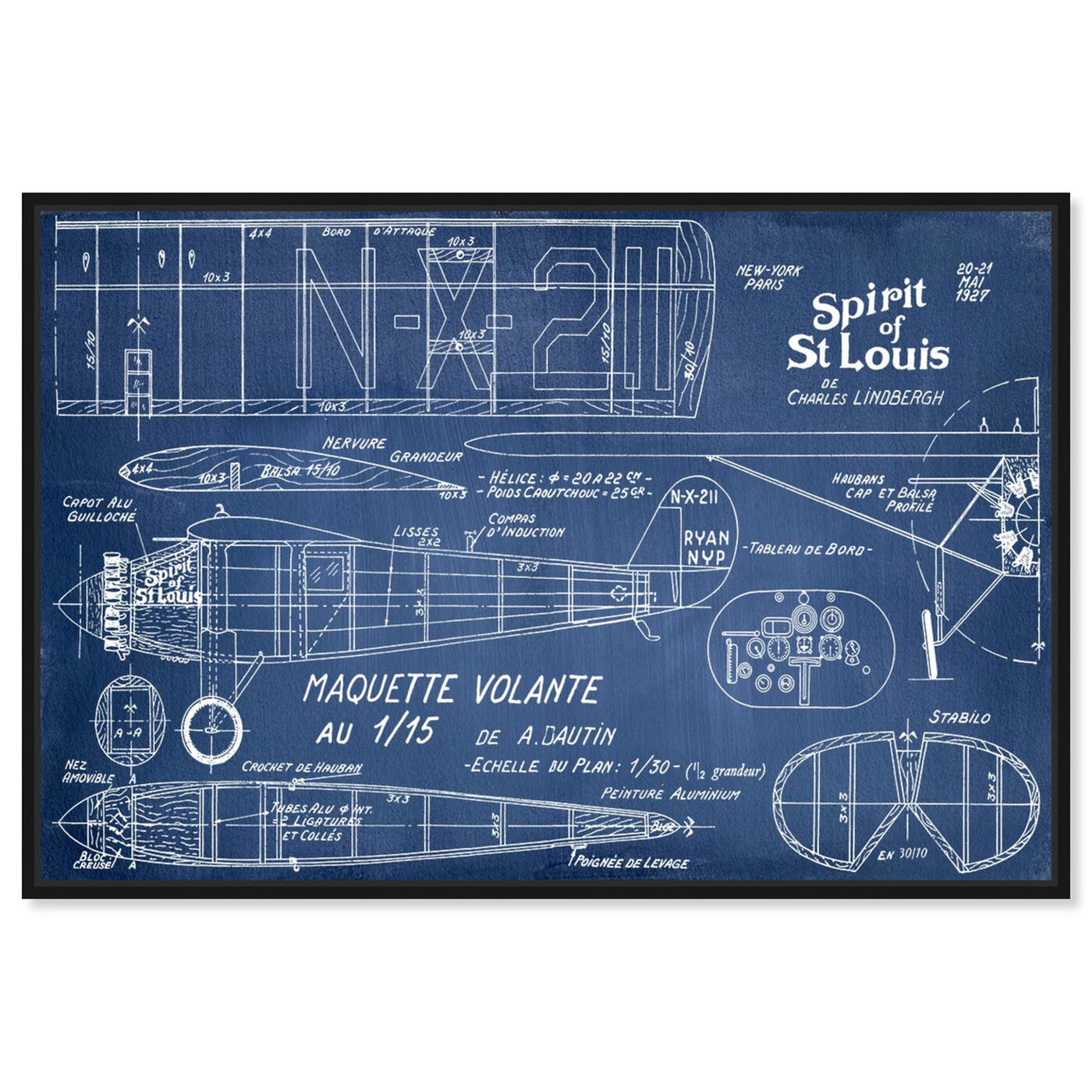 Front view of Marquette Volante featuring transportation and airplanes art.