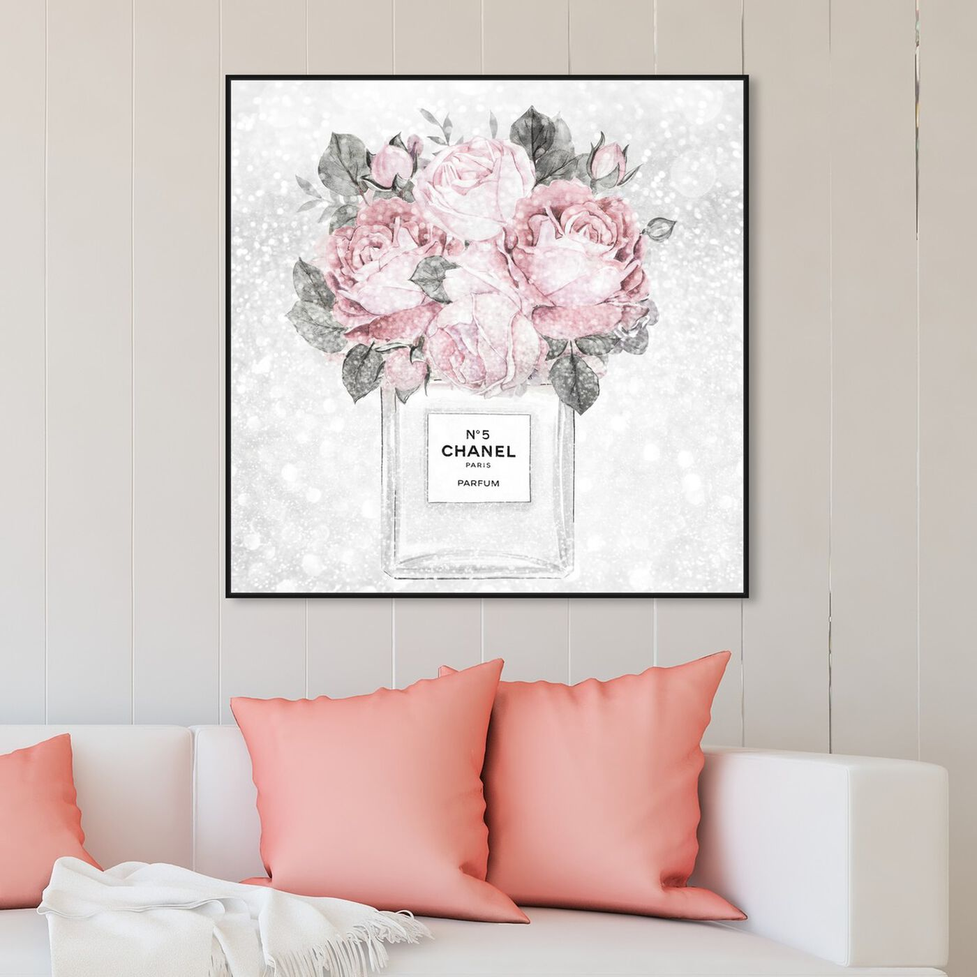Hanging view of Doll Memories - Rose Queen featuring floral and botanical and florals art.
